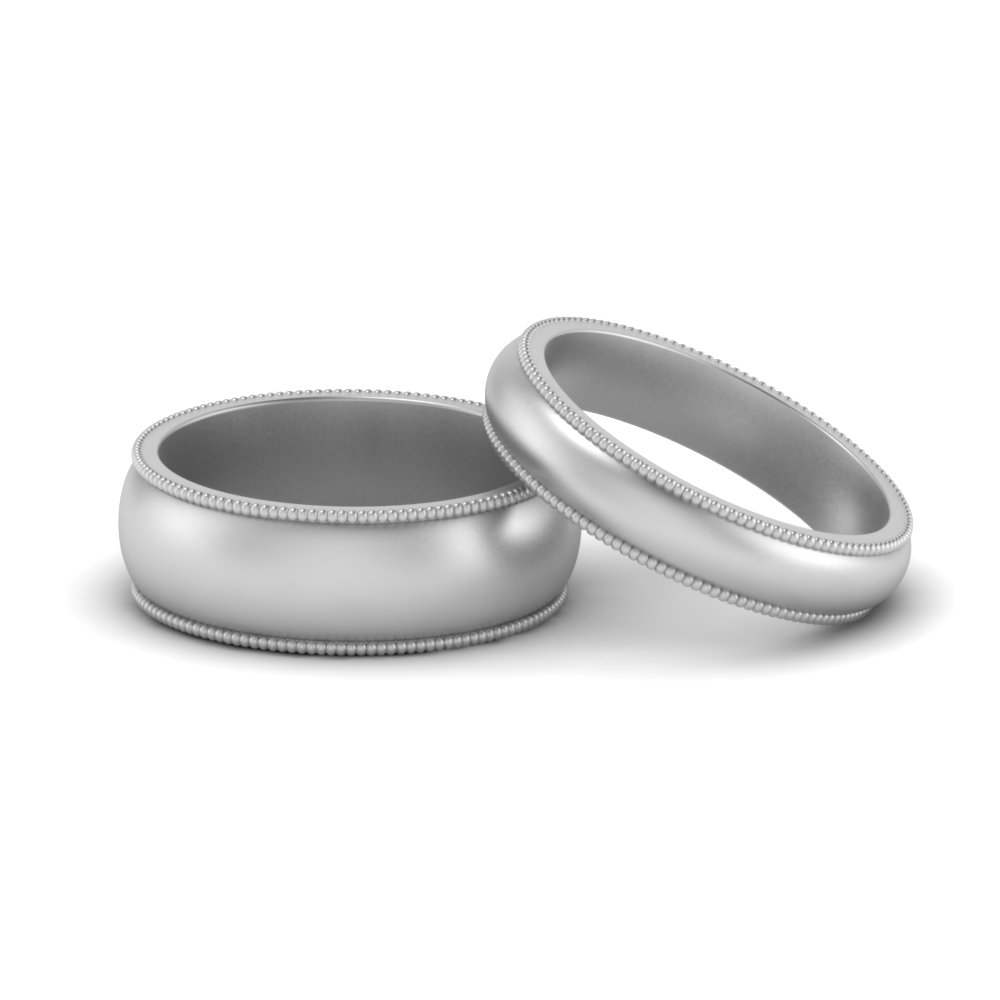 Milgrain Wedding Band For Him And Her