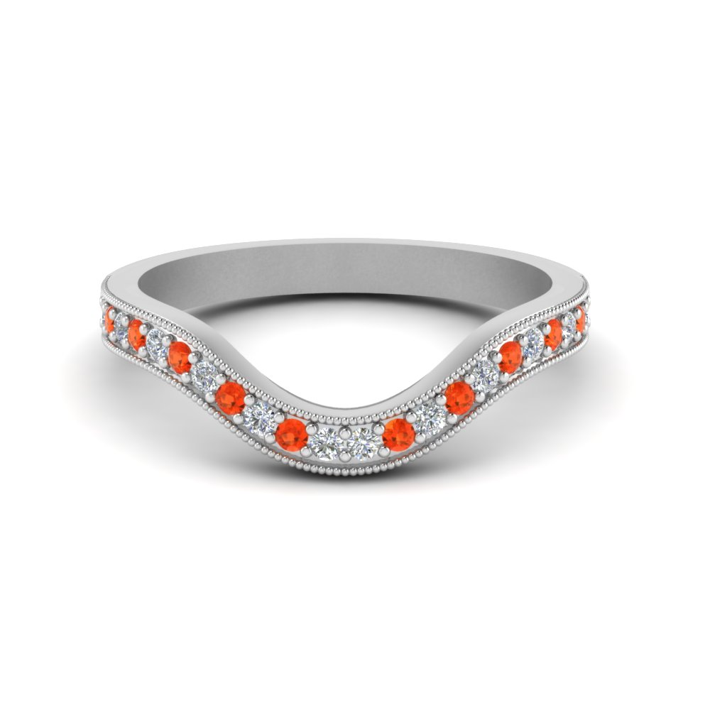 milgrain pave curved diamond wedding band with orange topaz in FDENS3159BGPOTO NL WG.jpg