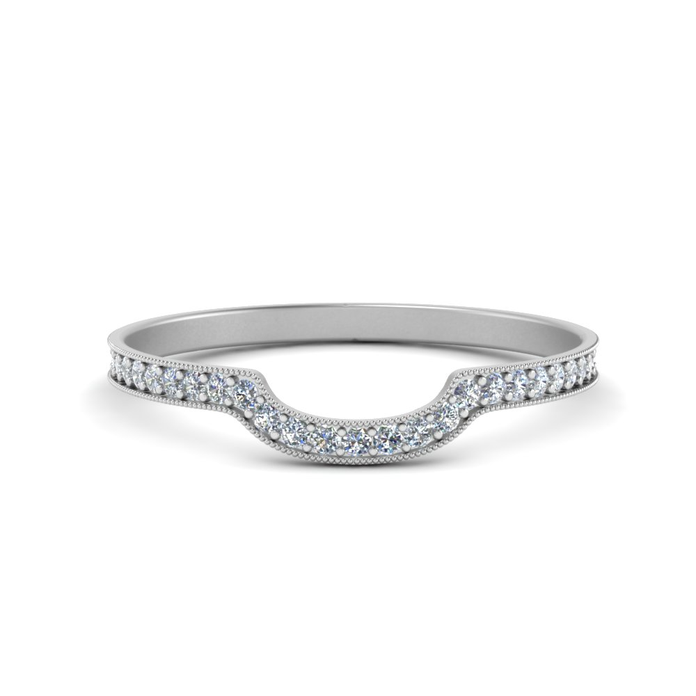 milgrain pave curved diamond wedding band in FD8590B NL WG.jpg