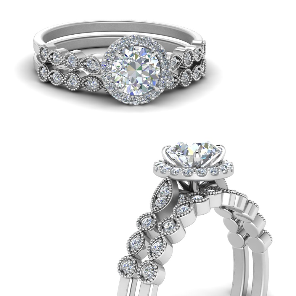 milgrain-round-halo-women-diamond-wedding-ring-set-in-FD123385ROANGLE3-NL-WG