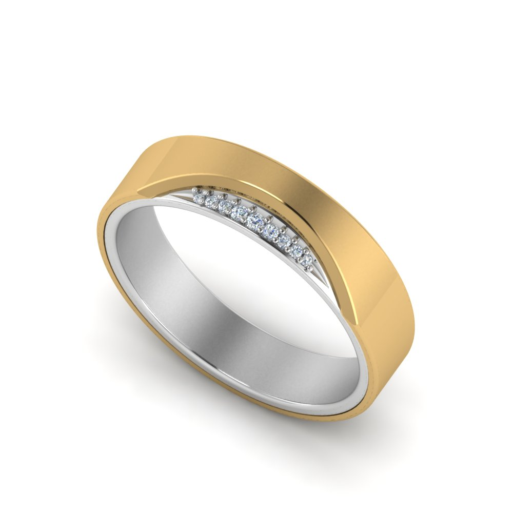 Two Tone Wedding Bands For Men