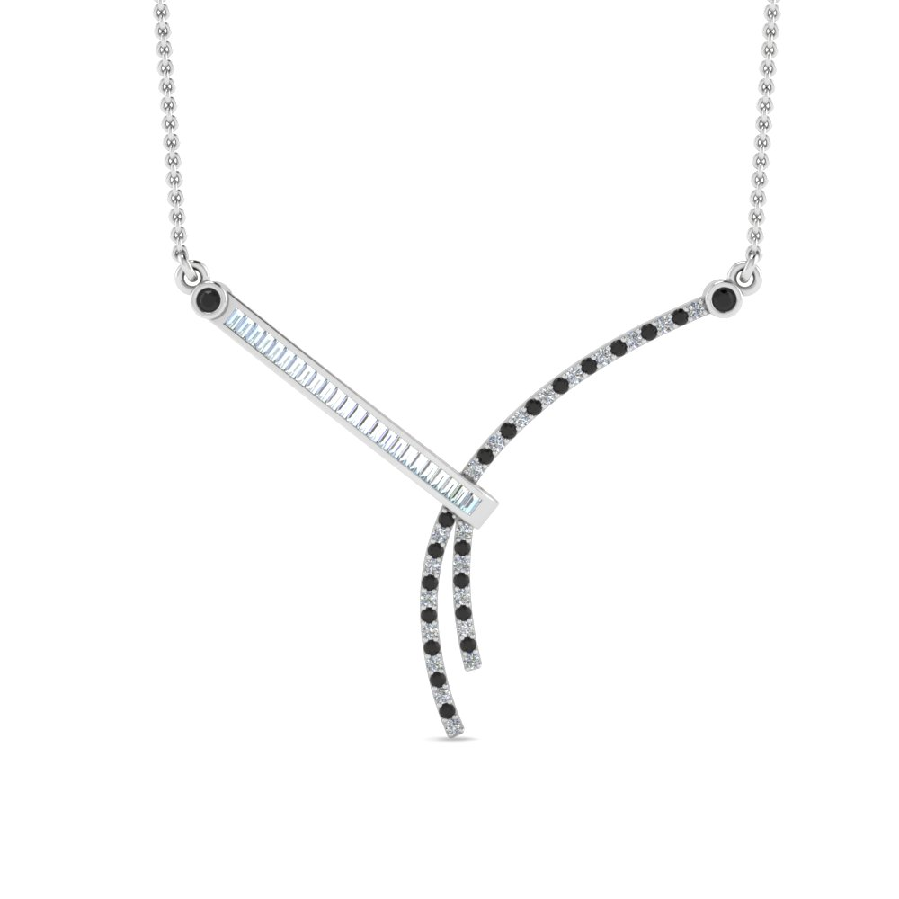 Modern Bar Diamond Necklace