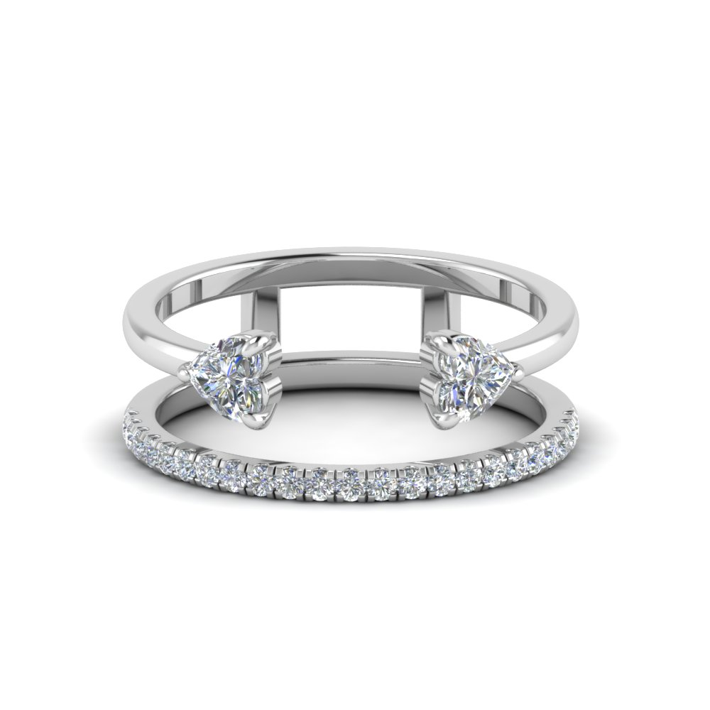 modern cuff diamond wedding band in FD8606HTR NL WG