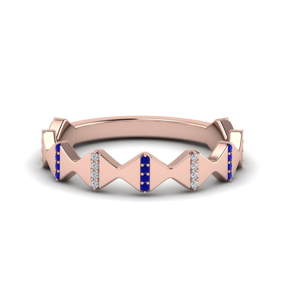 Sapphire Rose Gold Band