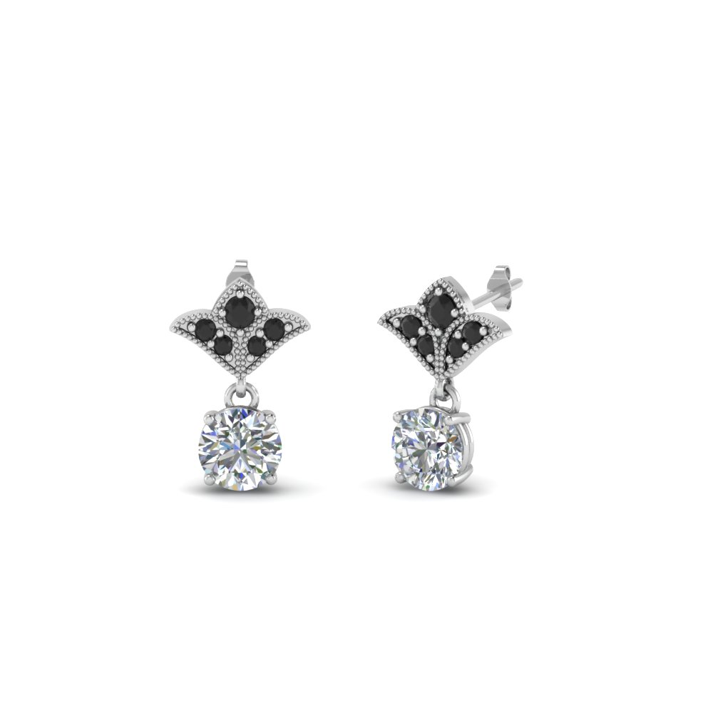 Platinum Black Diamond Earrings