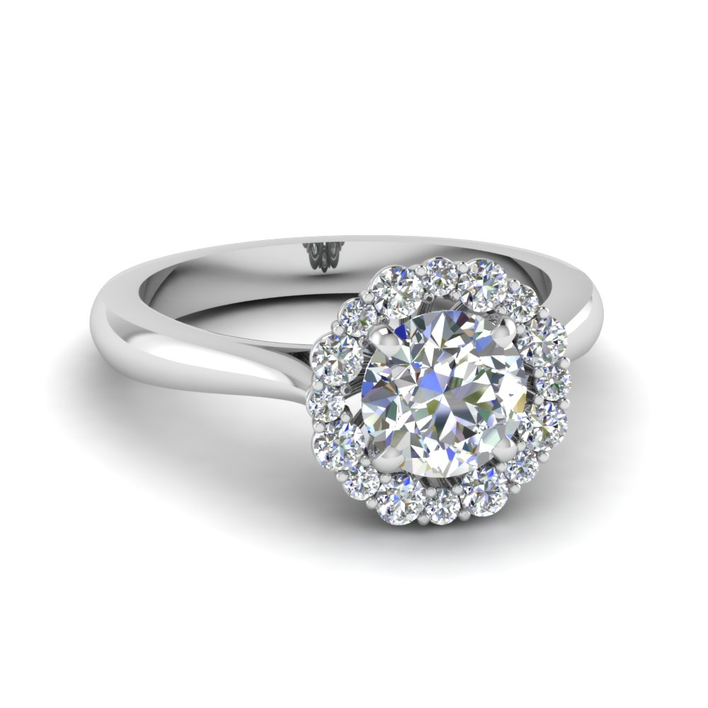 mom halo diamond ring in FDENS3206ROR NL WG