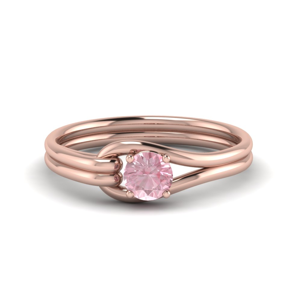 18K Rose Gold Morganite Solitaire Ring