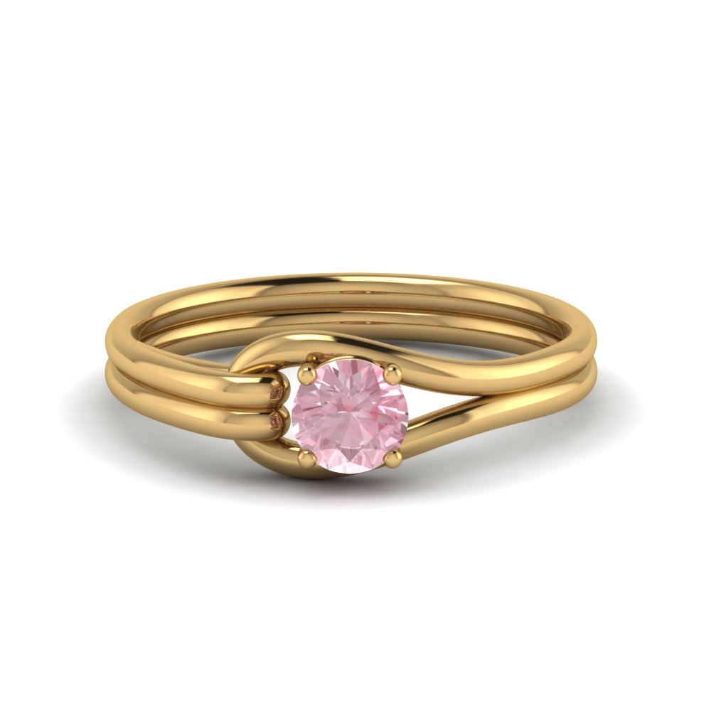 Loop Interlocked Solitaire Ring