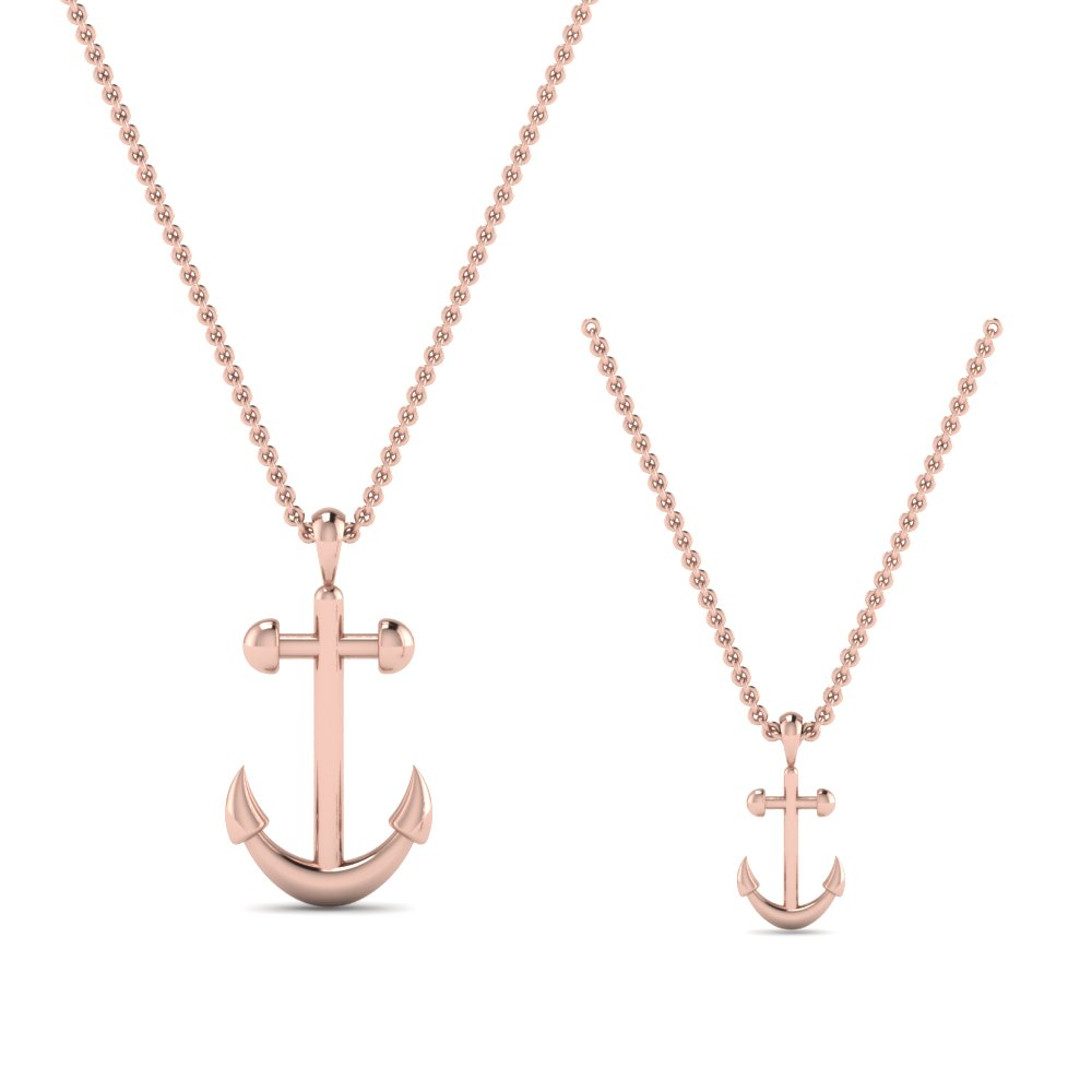 Rose Gold Anchor Pendant