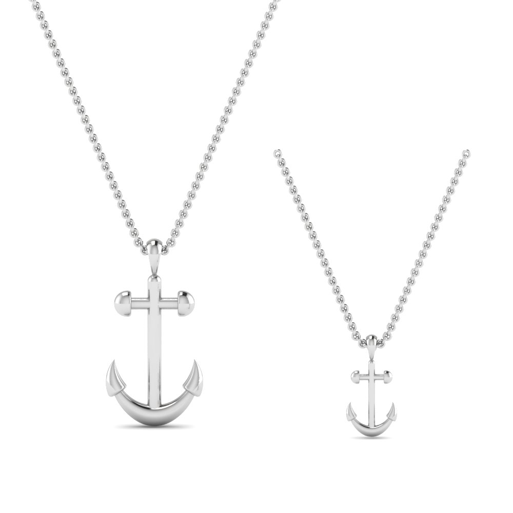 Mother And Child Anchor Pendant