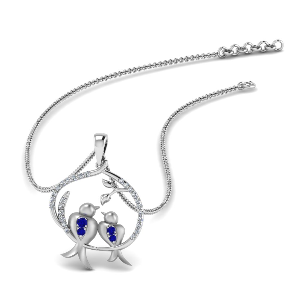 Sapphire Bird Mother Necklace