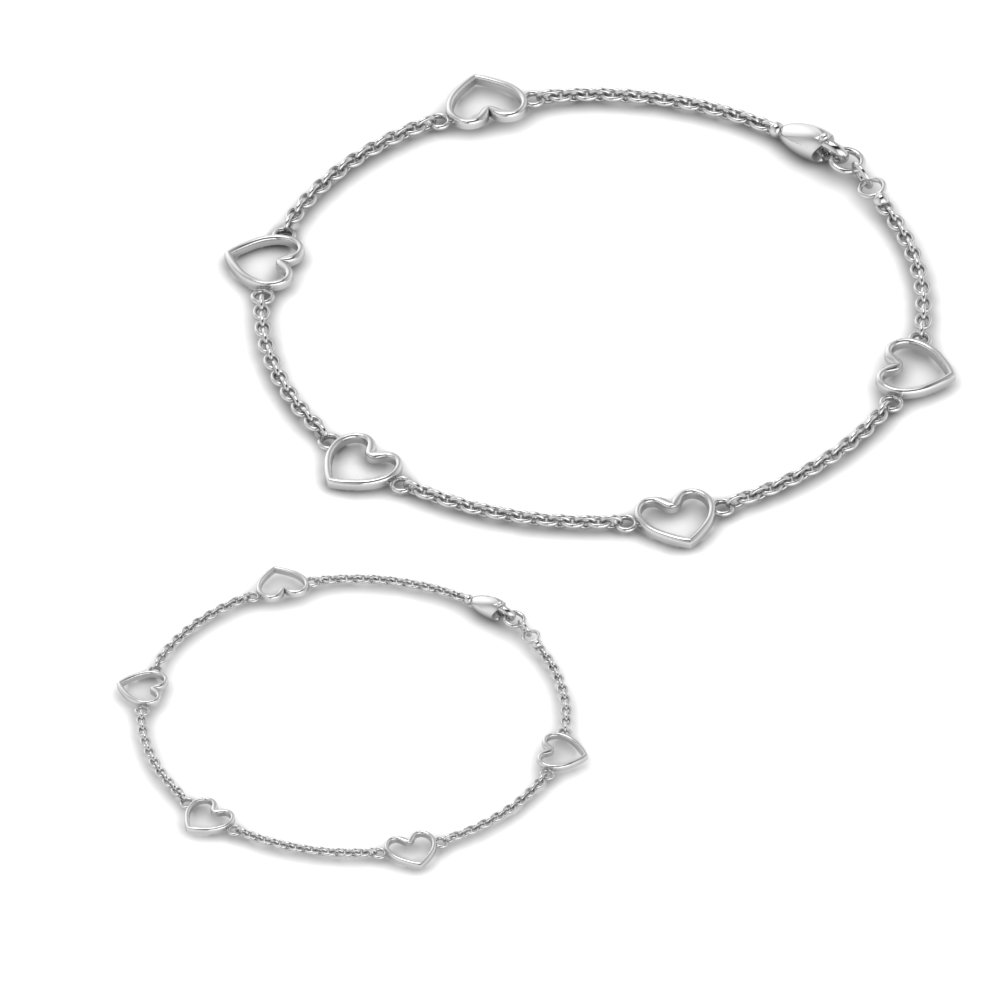 mother daughter bracelet in FDBRC8650 K ANGLE2 NL WG