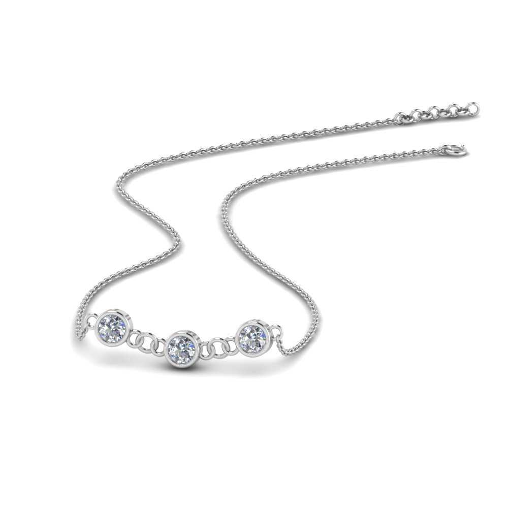 Classic Round Bezel Necklace