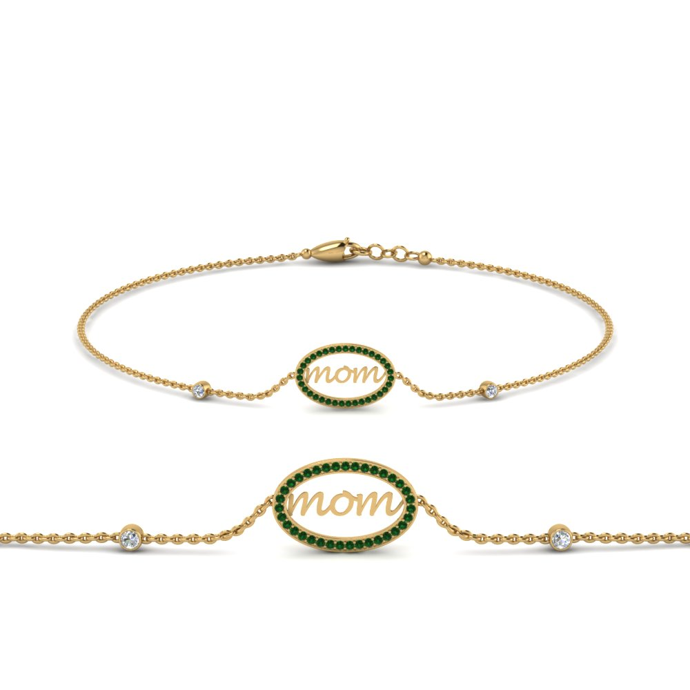 Mothers Day Emerald Bracelet