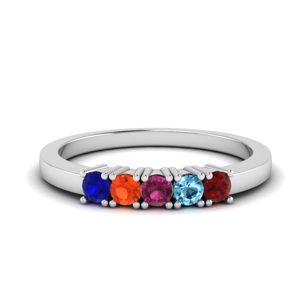 Mothers Day Ring With Birthstone