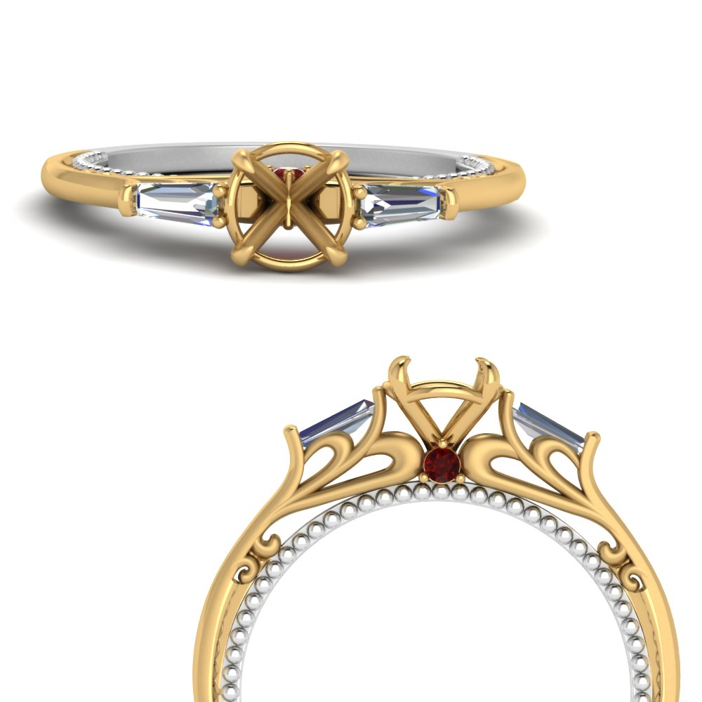 multi-gold-semi-mount-3-stone-baguette-ring-with-ruby-in-FDENS194SMRGRUDRANGLE3-NL-YG