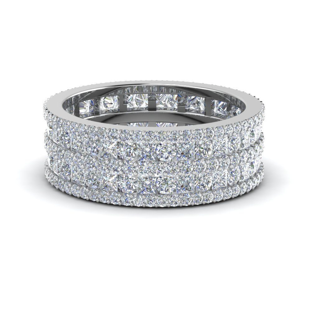 Multi Row Diamond Eternity Ring