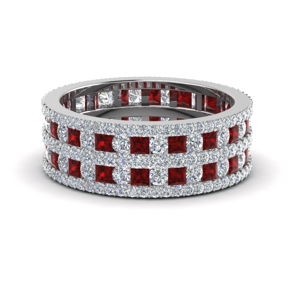 Multi Row Ruby Eternity Band