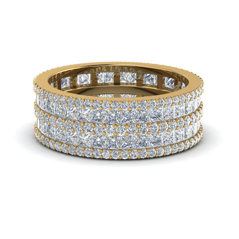 multi stack anniversary diamond ring in FDEWB8404B NL YG