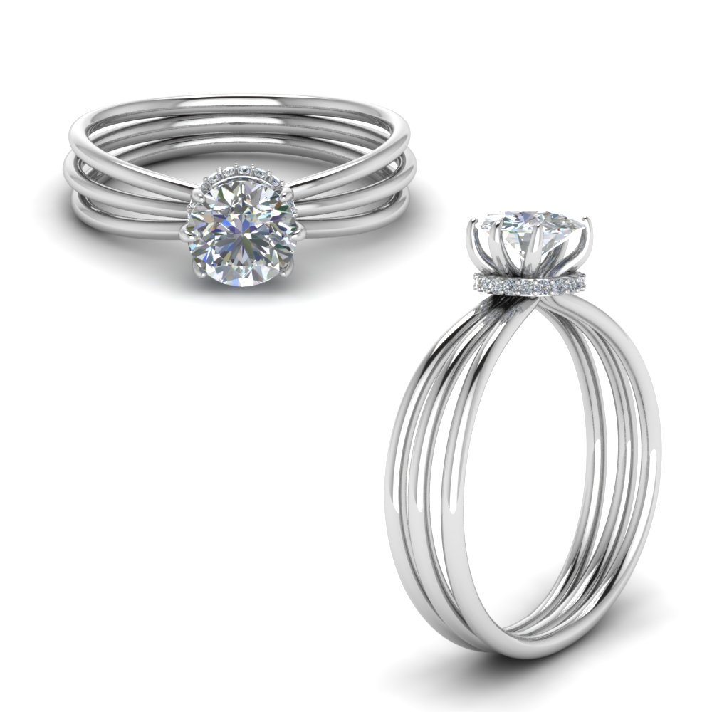 Split Shank Engagement Rings