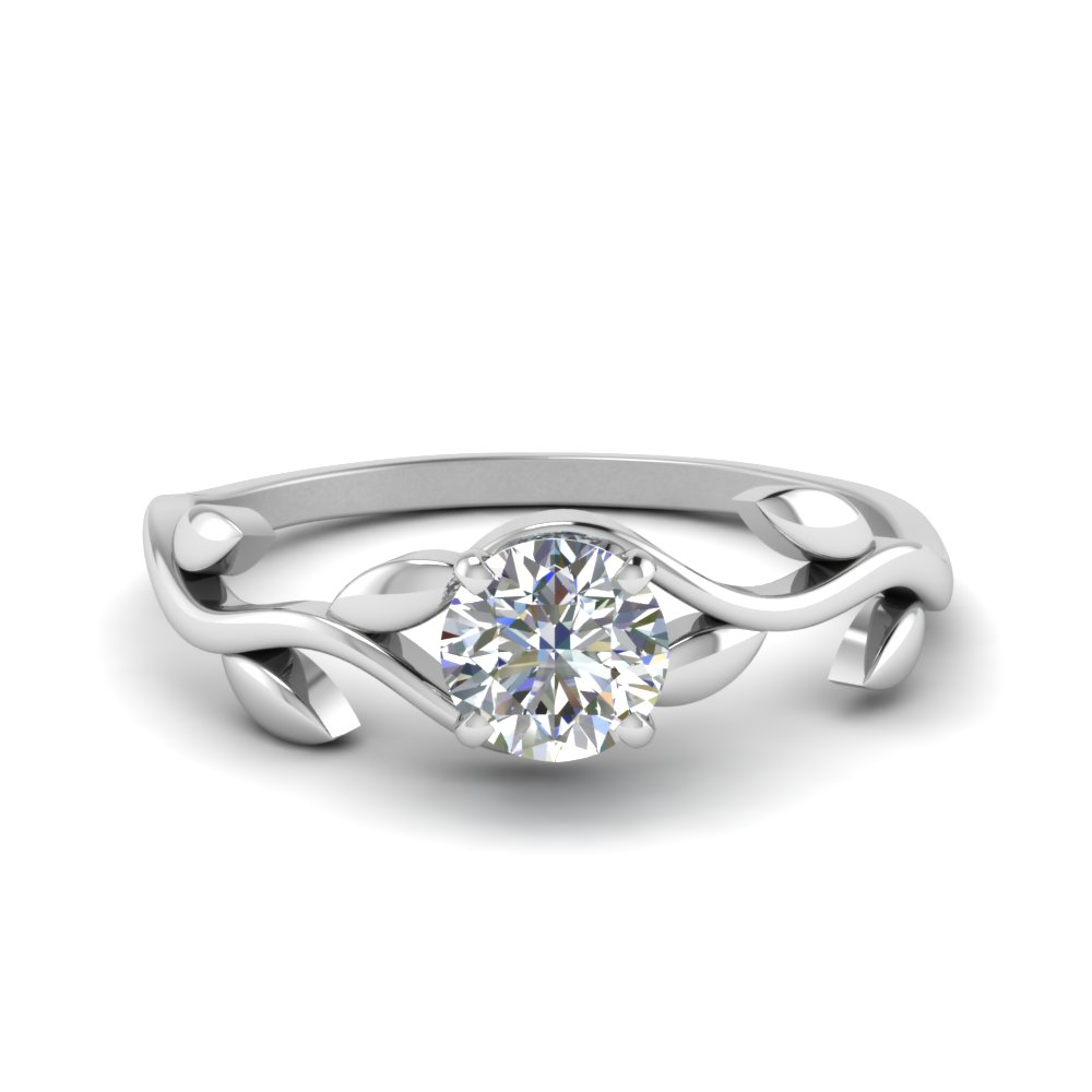 Nature Inspired Branch Solitaire Ring