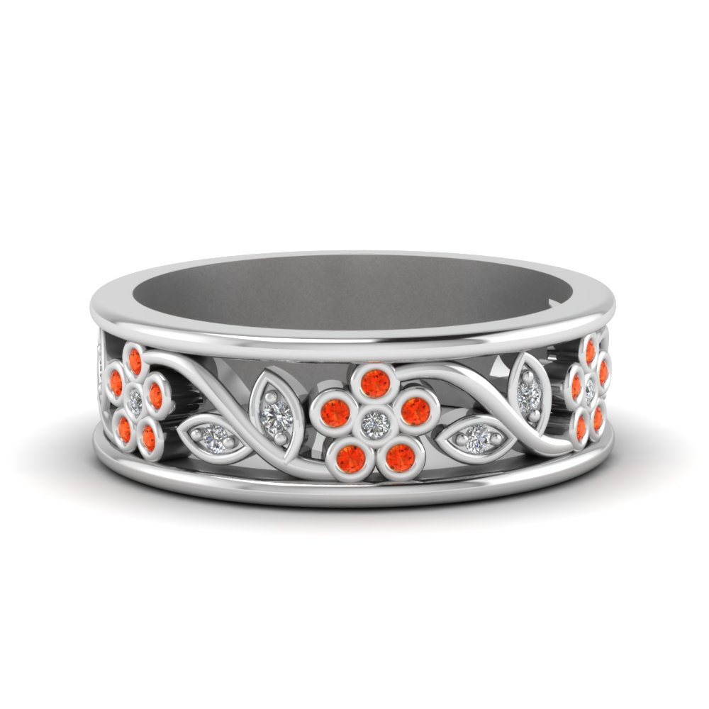Nature Inspired Orange Topaz Band
