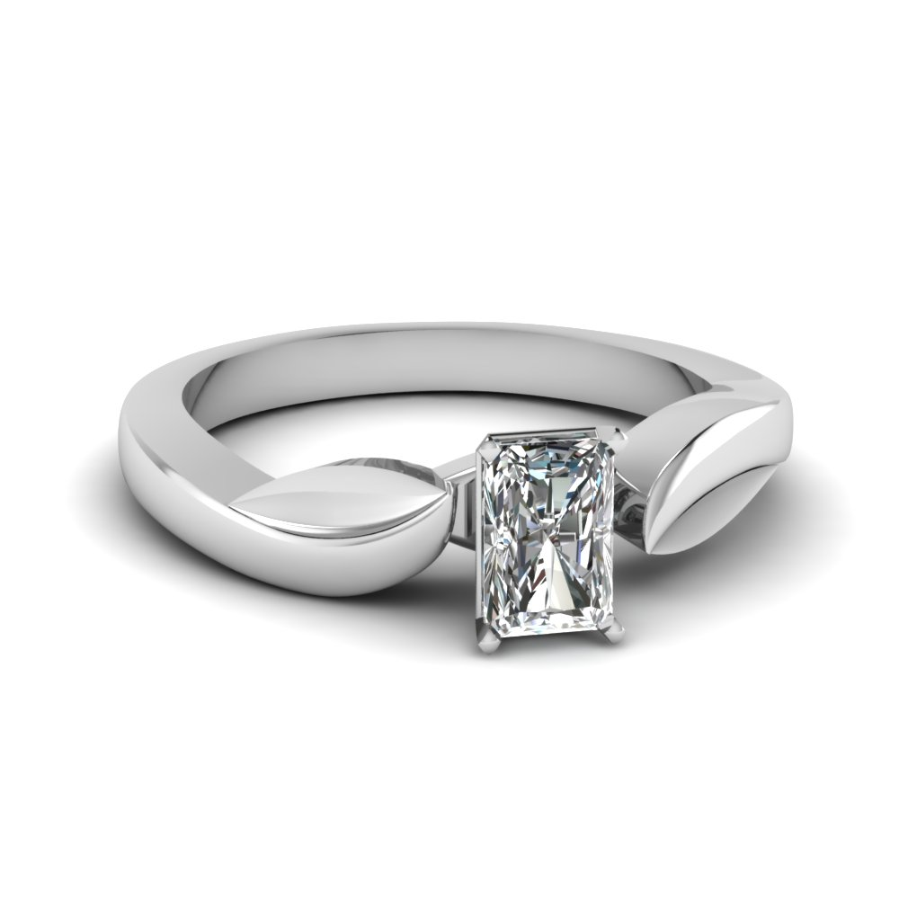 nature inspired diamond engagement discounted wedding ring white gold FDENR6683RAR NL WG