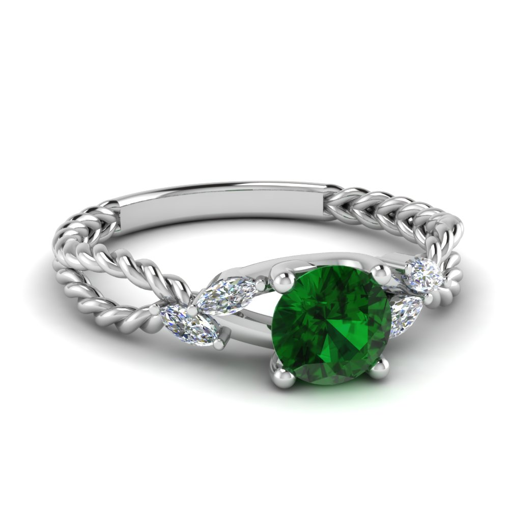 Nature Inspired Emerald Stone Ring