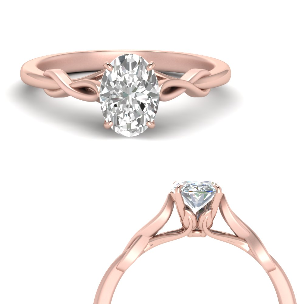 nature inspired oval shaped solitaire engagement ring in FD122705OVRANGLE1 NL RG