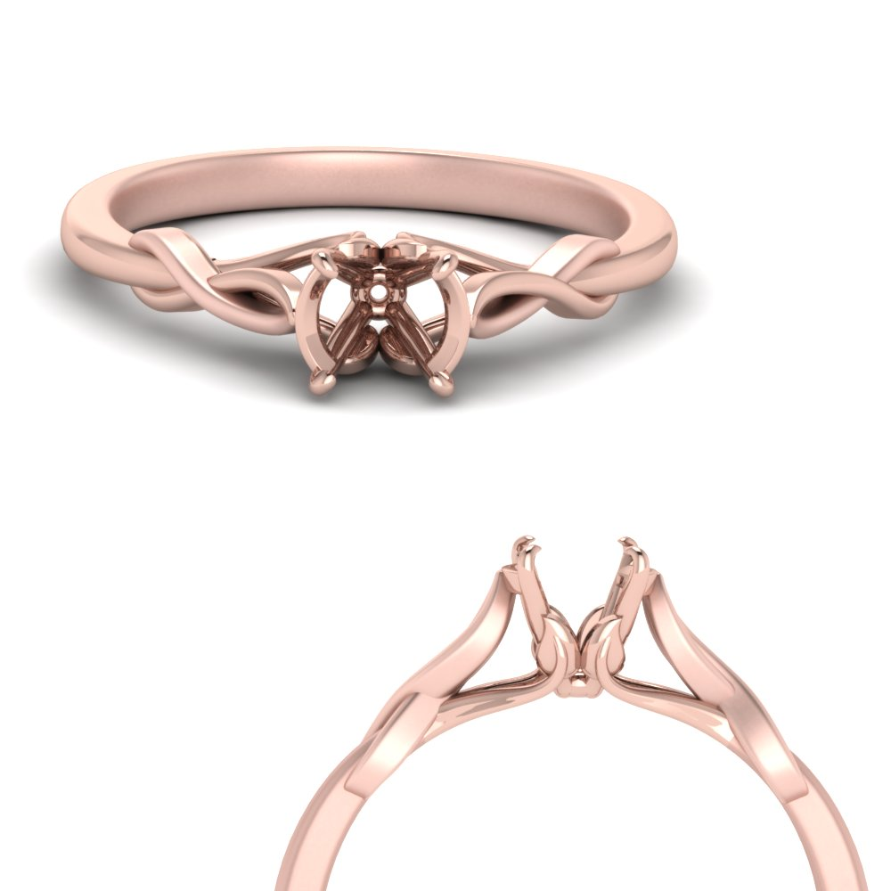 Nature Inspired Solitaire Ring Setting