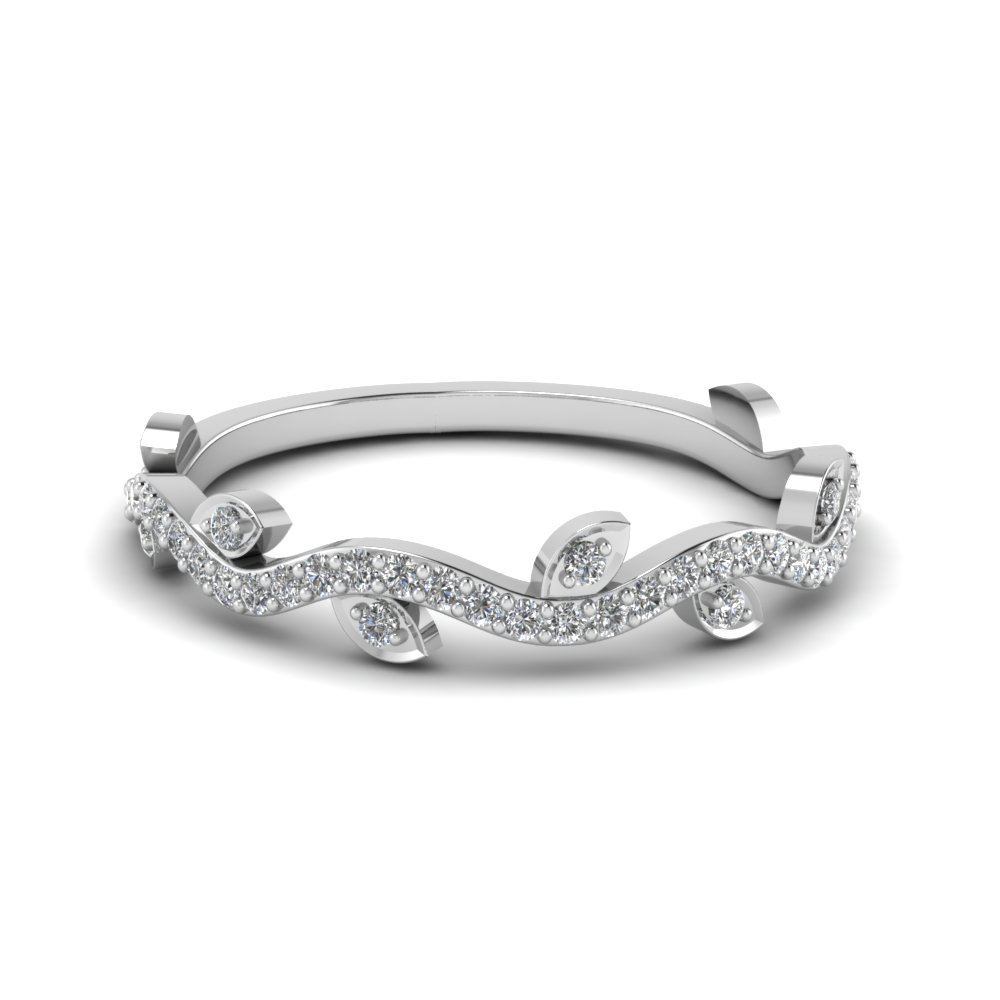 nature wedding diamond band in FD122916 NL WG