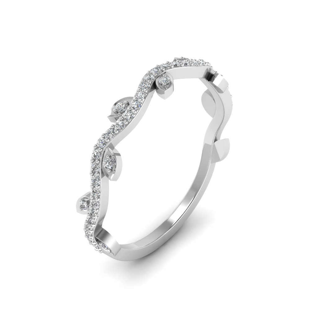 Nature Wedding Diamond Band