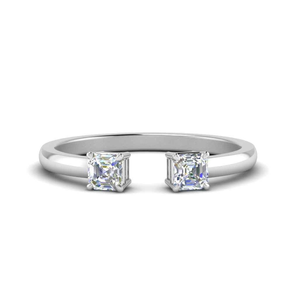 Asscher Cut Open Ring