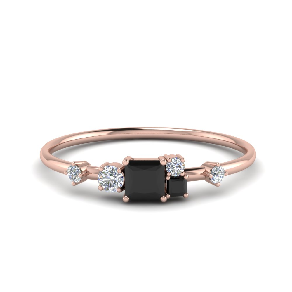 non symmetrical black diamond engagement ring  in FD8354PRGBLACK NL RG