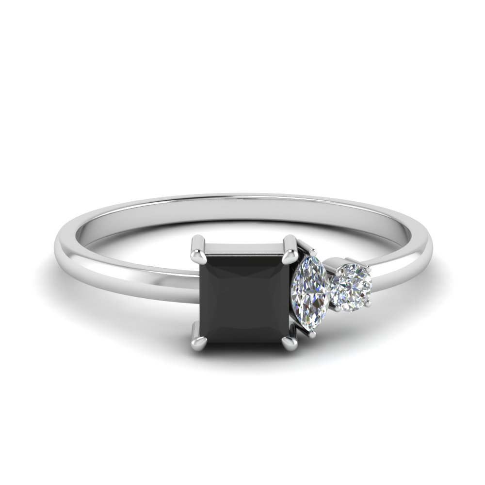 Nontraditionalblackdiamondengagementringinfd9007prgblack: Black Wedding Ring Platinum At Reisefeber.org