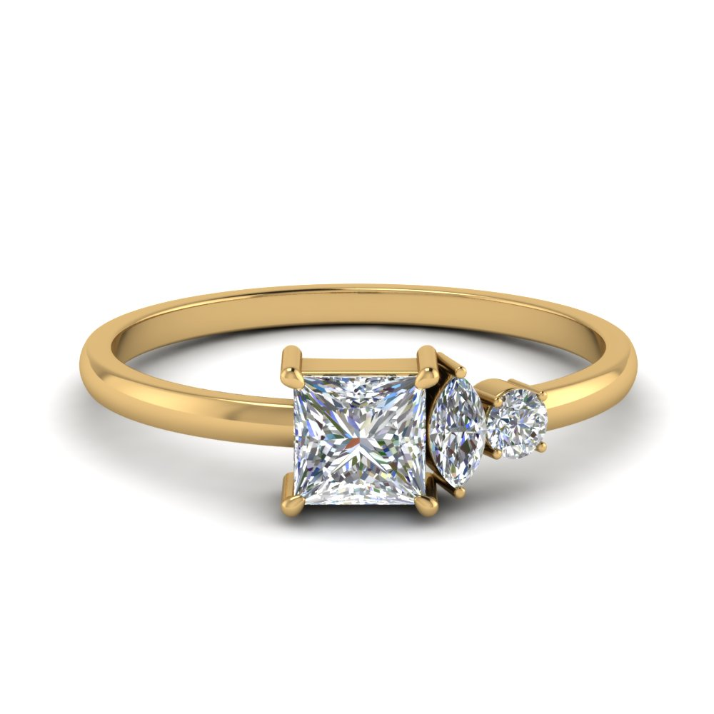 Non Traditional Delicate Diamond Ring