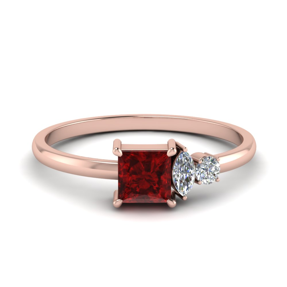 non traditional delicate diamond wedding ring with ruby in FD9007PRGRUDR NL RG.jpg