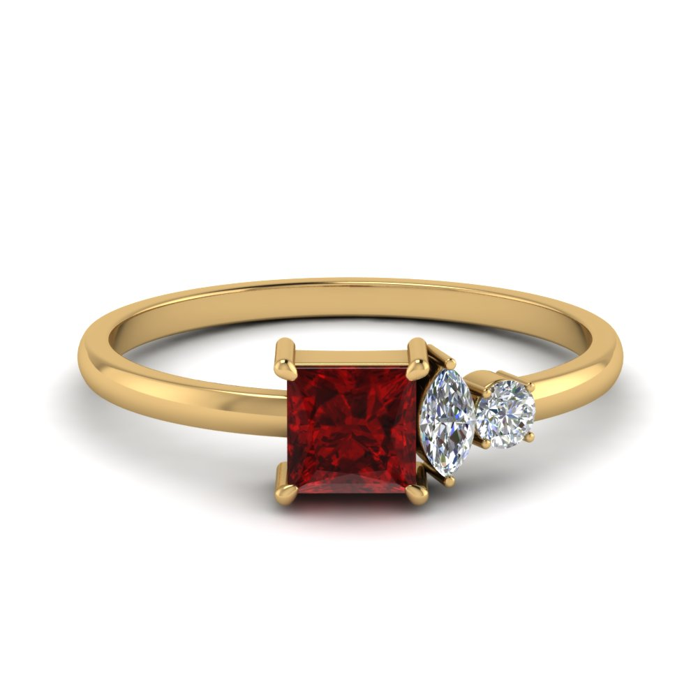 Non Traditional Delicate Ruby Ring