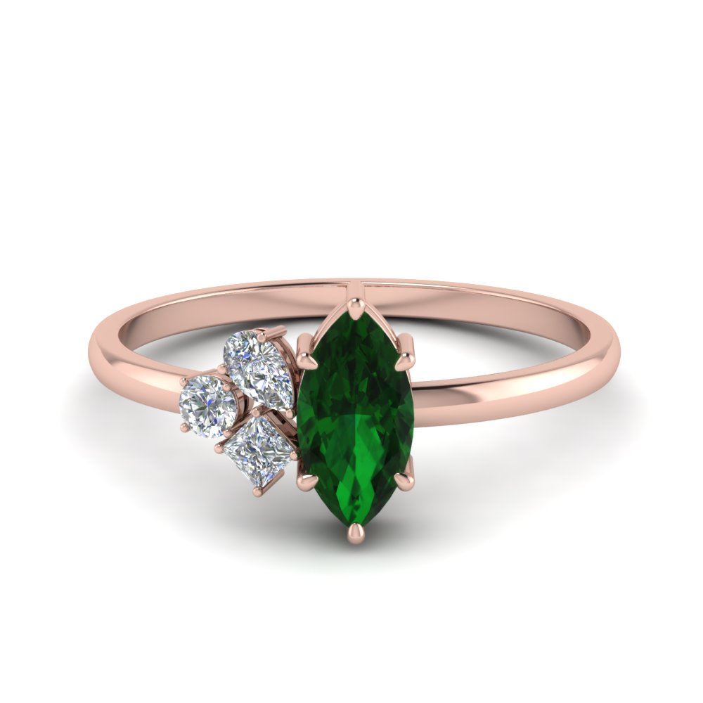 Unconventional Emerald Petite Ring