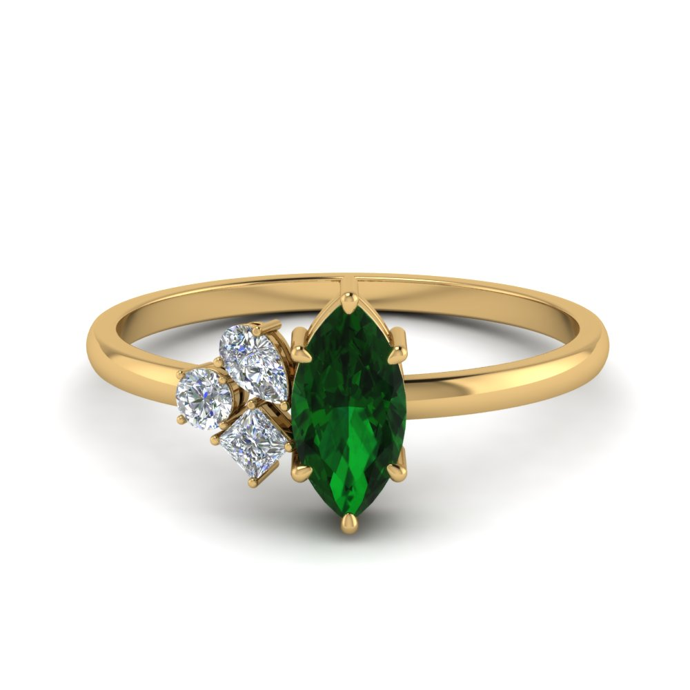 Non Traditional Emerald Ring