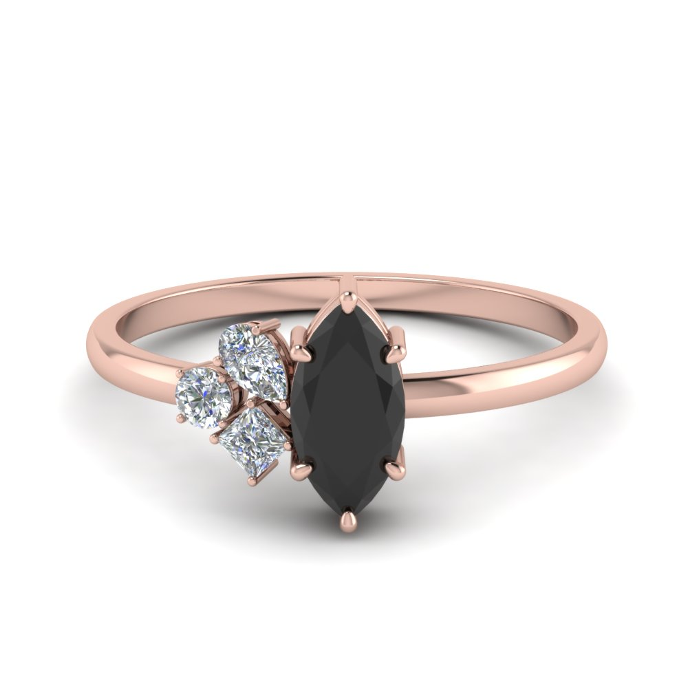 Non Traditional Black Onyx Petite Ring
