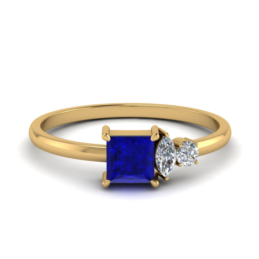 Non Traditional Sapphire Ring