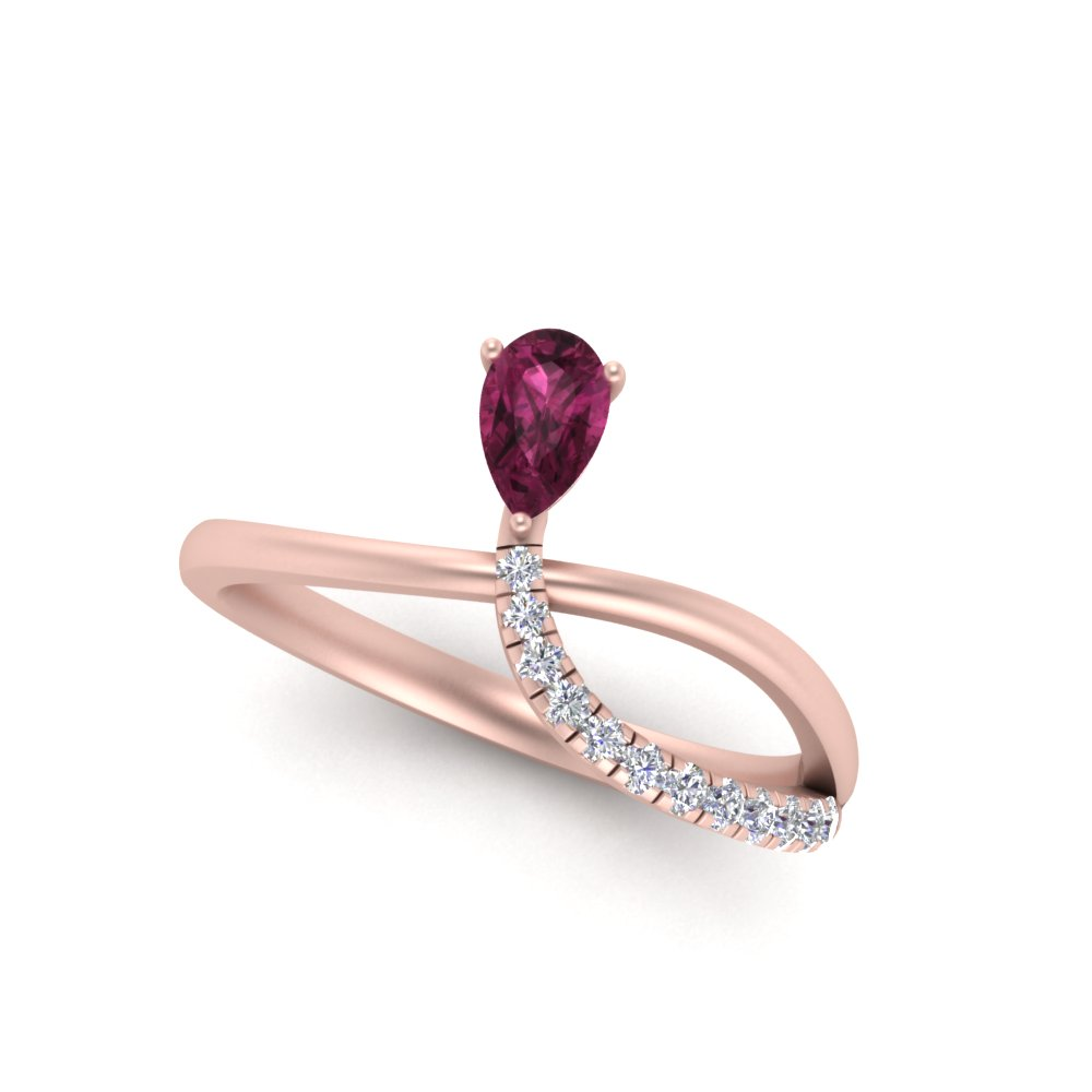offbeat-modern style-pear-pink-sapphire-engagement-ring-in-FD9148PERGPS-NL-RG-GS