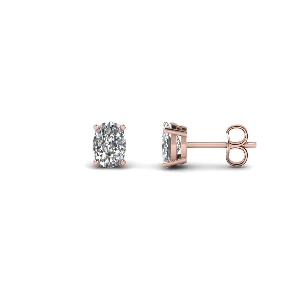 1 Ct. Cushion Cut Diamond Earring