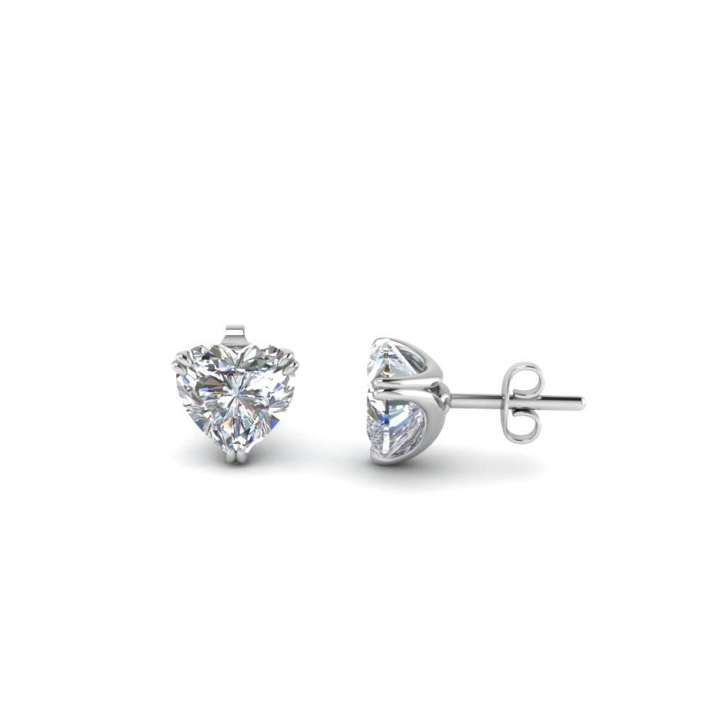 1 Ct. Heart Diamond Stud Earring
