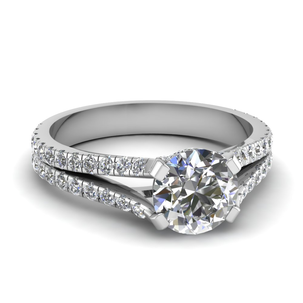 1.50 carat diamond pave split shank engagement ring in FD68896ROR NL WG.jpg