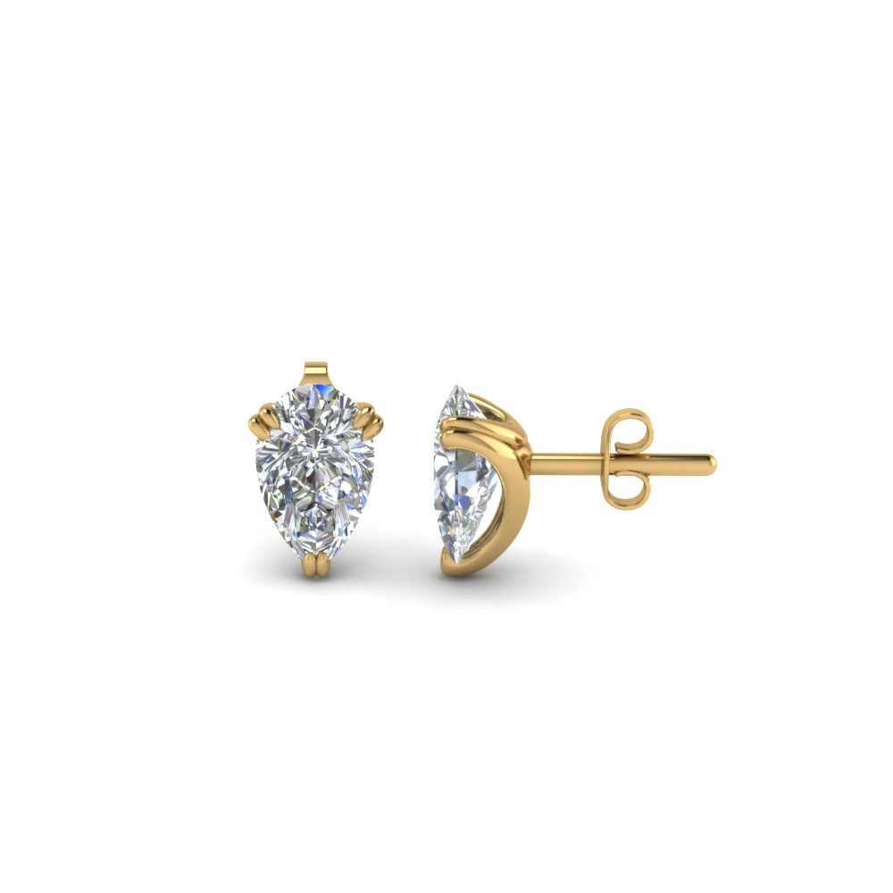 1 Ctw. Diamond Pear Stud Earring