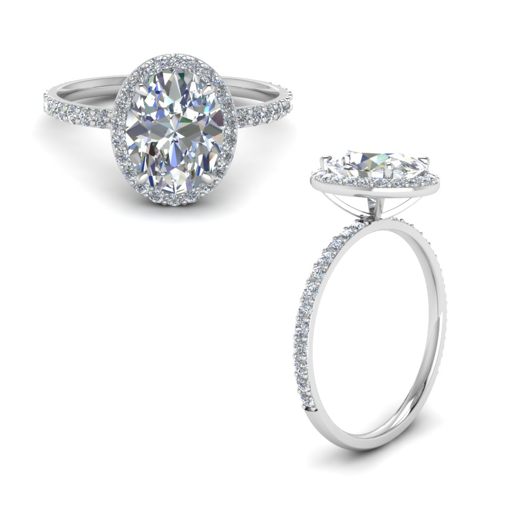 Petite Diamond Halo Ring