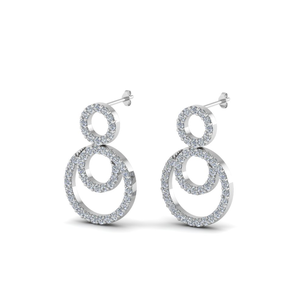 Cheap 3 Circle Drop Earrings For Ladies