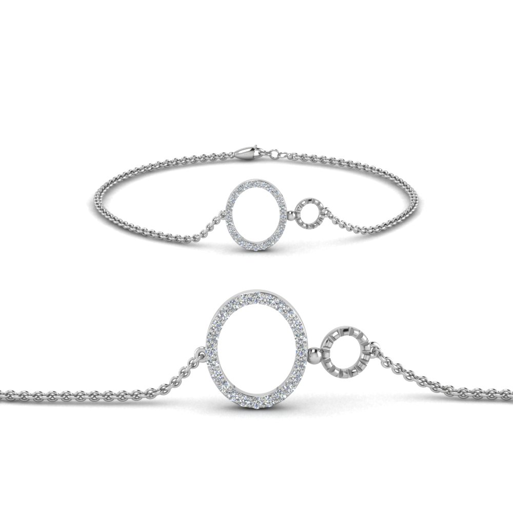 Delicate Diamond Chain Bracelet White Gold